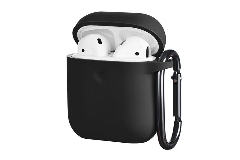 Чехол 2Е для Apple AirPods, Pure Color Silicone (3.0mm) , Black